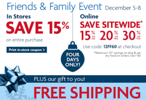 PetSmart: Take 30% off $150, 20% off $100, 15% off $60 + Free Shipping w/ Promo Code