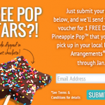 Edible Arrangements: Sign up to Get a FREE Dipped Pineapple Star Pop!