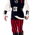 Mens Cutthroat Pirate Costume (Adult Size M-L) ONLY $14.83 + Free Shipping!