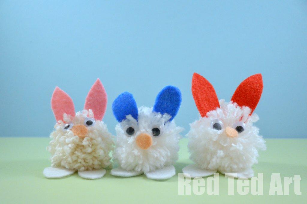 pom-pom-bunny-craft