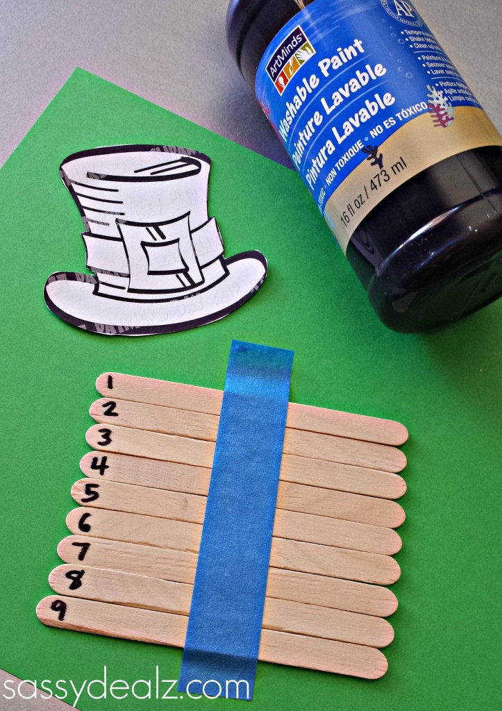 leprechaun popsicle stick puzzle craft