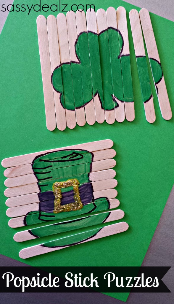 popsicle st patricks crafts