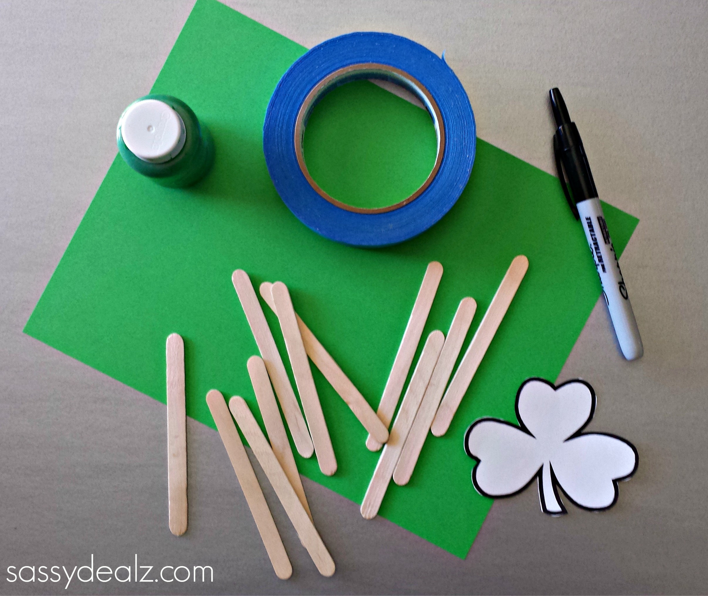 st patrick s day popsicle stick craft diy puzzles crafty morning