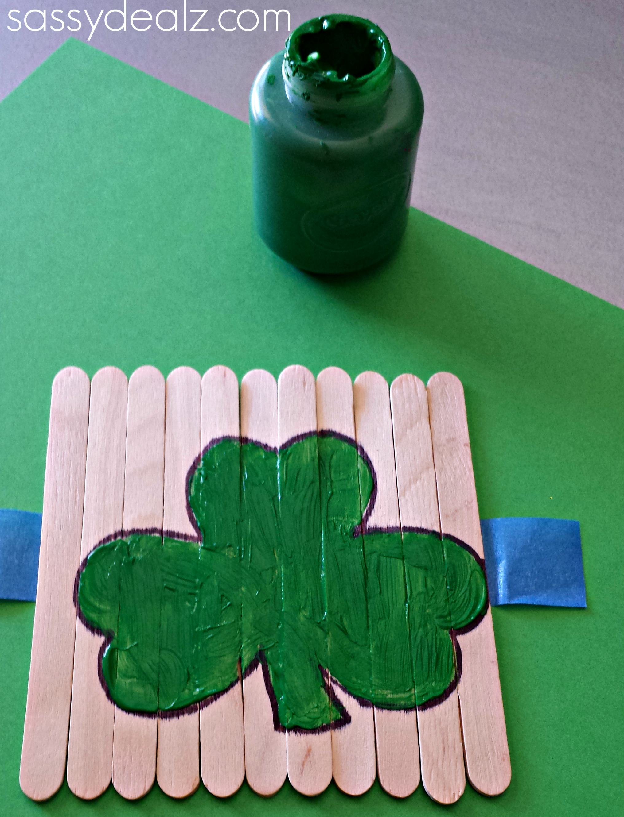 St patrick s day popsicle stick craft diy puzzles
