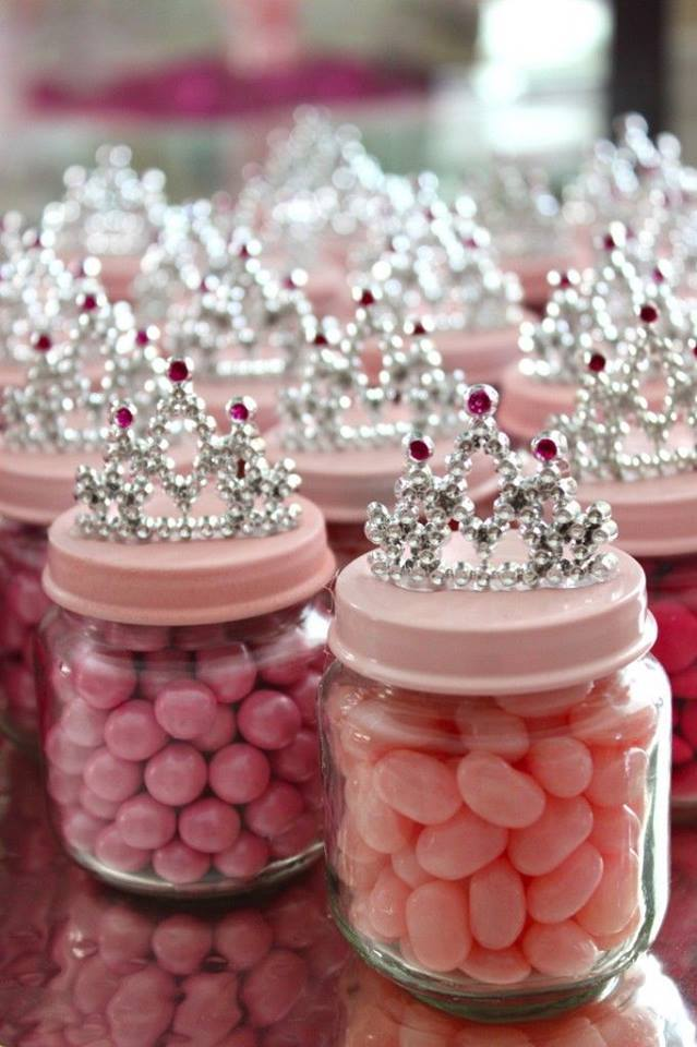 diy baby food jar princess crown party favors crafty morning