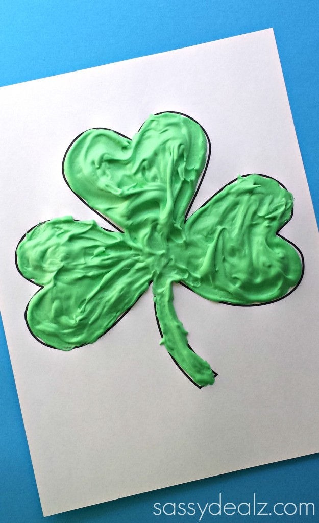 shamrock puffy paint craft