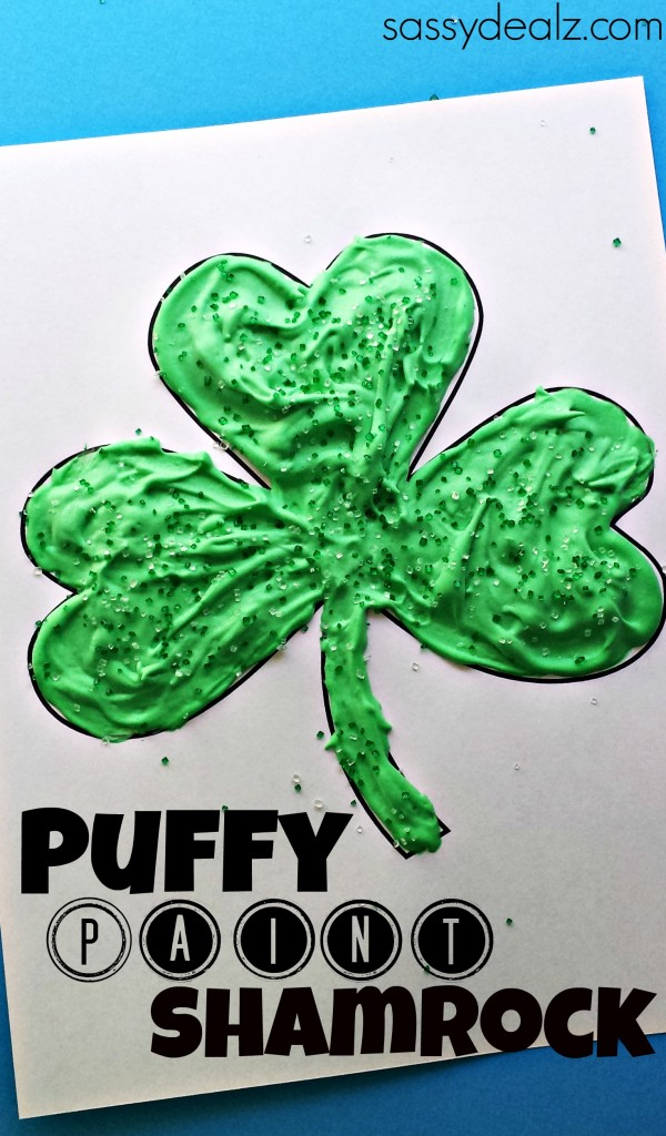 puffy-paint-shamrock-crafts