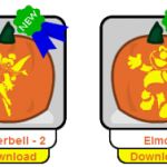 Free Kid's Cartoon Halloween Pumpkin Carving Patterns (Printable PDFs)