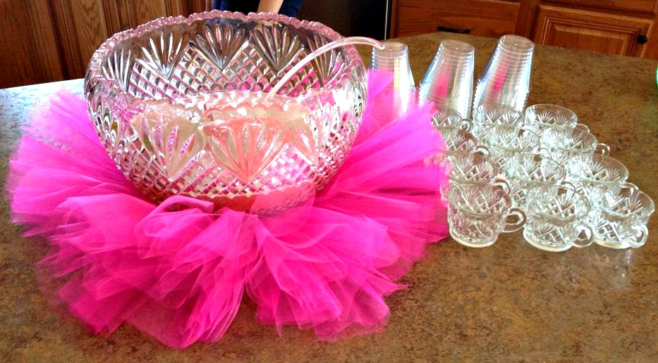 Baby Girl Shower Ideas On A Budget Crafty Morning Inspiration Decorating With Punch Bowls