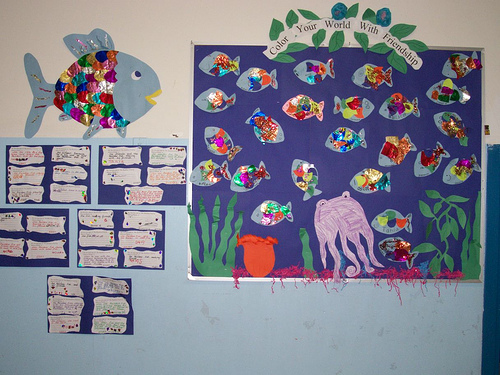 rainbow fish bulletin board
