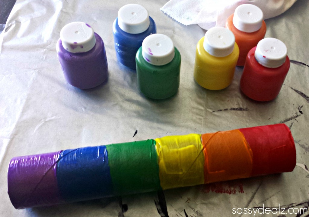 craft paper roll rainbow paper towel wind catcher craft for crafty 1608