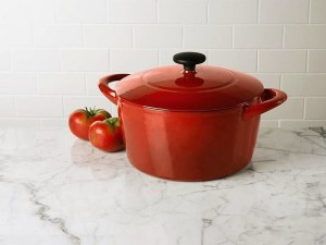 Red Enameled Cast Iron Dutch Oven Only $29.97 (Reg $79.99!)
