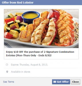 *HOT* Red Lobster- Get $10 Off Two Entrees Printable Coupon (Valid 7/29-8/8)