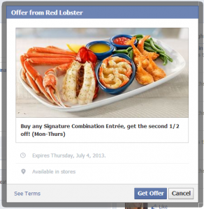 Red Lobster Buy One Get One Entree 1/2 Off! (Valid Thru July 4th)
