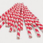 Kikkerland Biodegradable Red/White Paper Straws, Box of 144 ONLY $4.99 Shipped