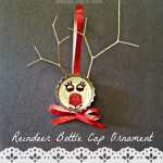 Bottle Cap Reindeer Christmas Craft For Kids (Cute Ornament Idea!)