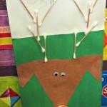 Q-Tip Reindeer Art Project For Kids {Christmas Idea}