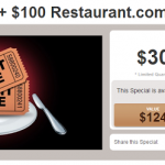 2 Movie Tickets + $100 Restaurant.com eGift Card Special ONLY $30! (Reg $124!)