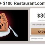 2 Movie Tickets + $100 Restaurant.com eGift Card Special ONLY $30! (Reg $124!)