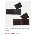 Rolfs Men's Leather Wallets ONLY $3.99 + Shipping (Reg $29.99)