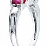Kay Jewelers- Get $30 Off a 3-Stone Ruby Ring in Sterling Silver After Promo Code ONLY $29.99 (Reg $59.99!)