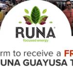 Free Sample of Runa Guayusa Tea (Facebook)