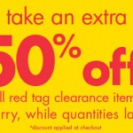 Sally Beauty Supply- 50% Off Red Tag Clearance Sale