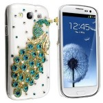 Diamond Crystal Peacock Samsung S3 Phone Case Just $3.50 Shipped!