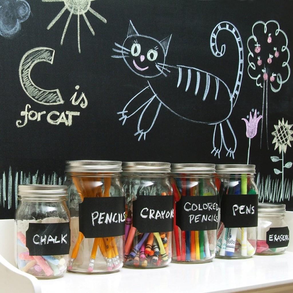 self adhesive chalkboard liner
