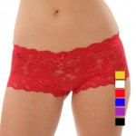 12 Pack of Lace Floral Boy Short Panties Only $16.99 (~$1.41 a pair!)