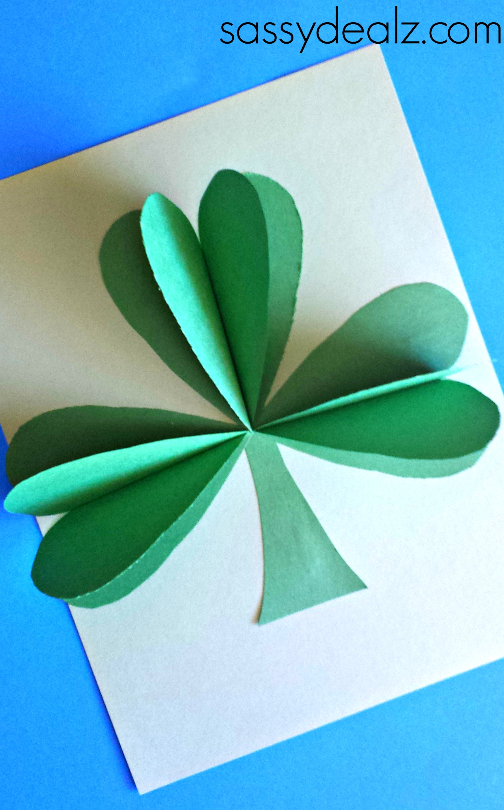3D Paper Shamrock Craft For St. Patrick\u002639;s Day  Crafty Morning