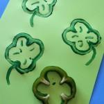 Bell Pepper Shamrock Stamp Craft For St. Patrick's Day