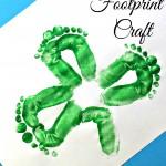 Kids Shamrock Footprint Craft For St. Patrick's Day