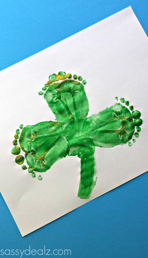 shamrock-footprint-crafts