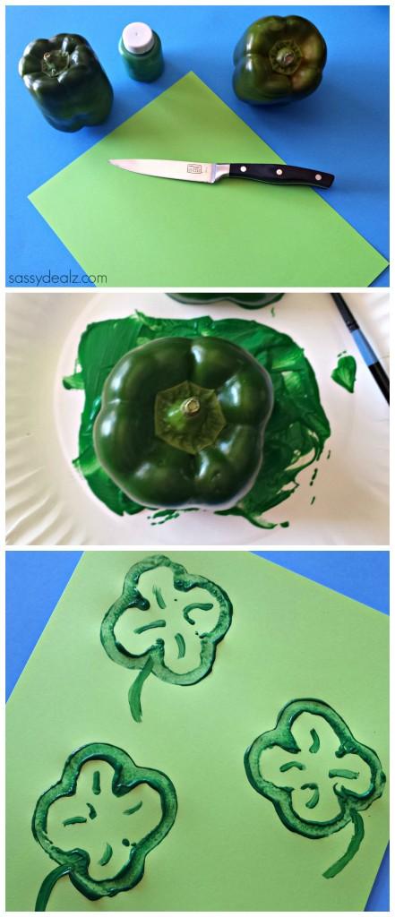 pepper shamrock craft for kids
