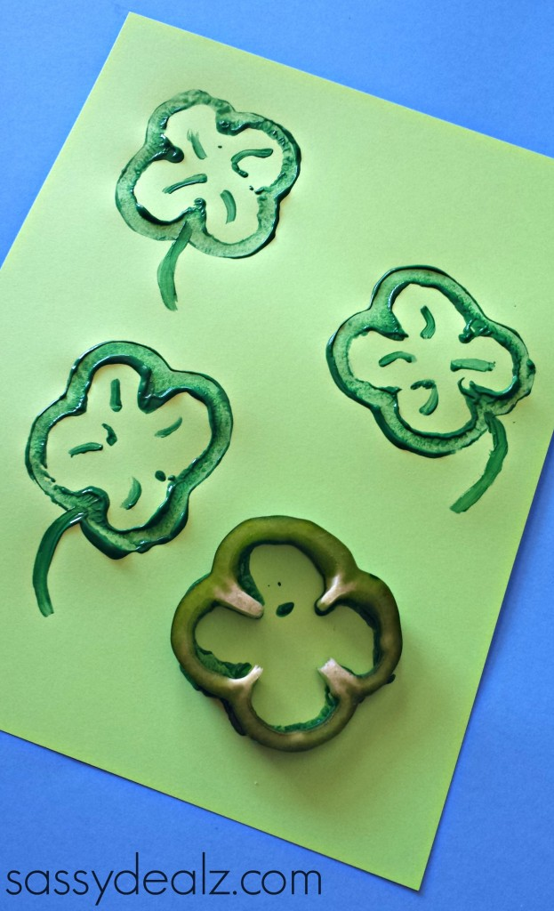 bell pepper shamrock craft