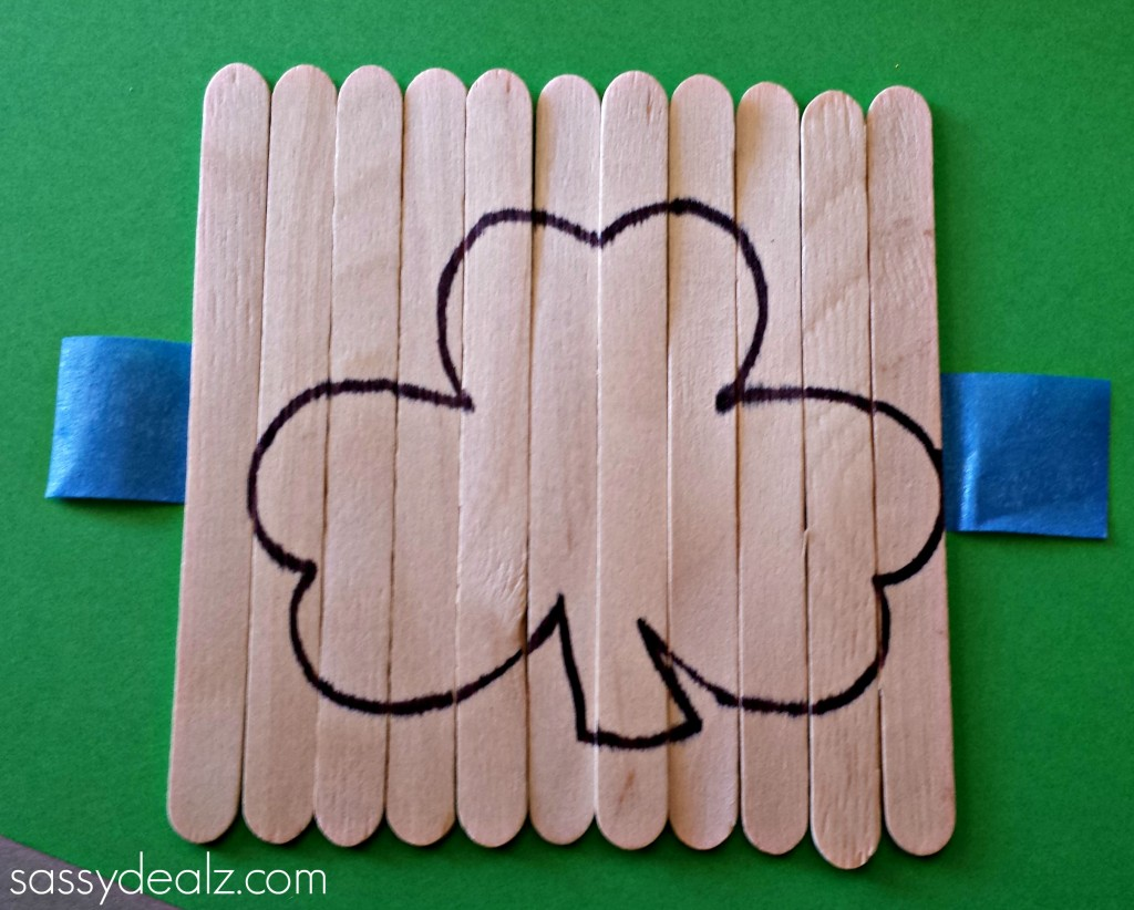 shamrock popsicle stick puzzle craft