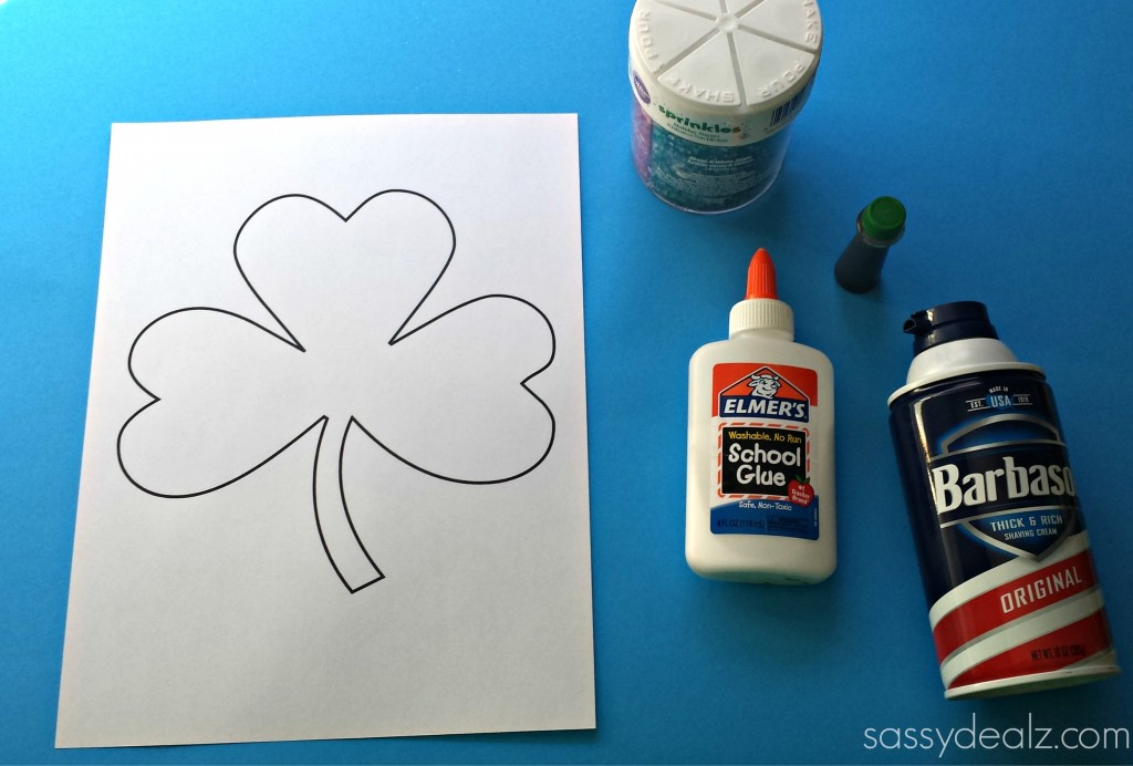 shamrock puffy paint craft