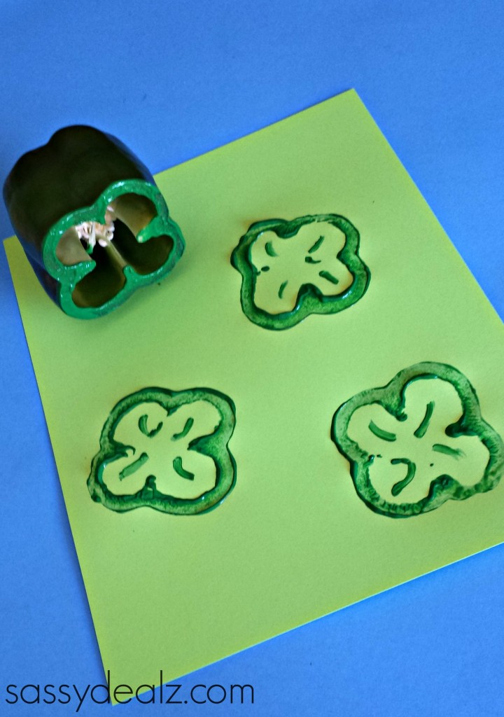 pepper shamrock craft