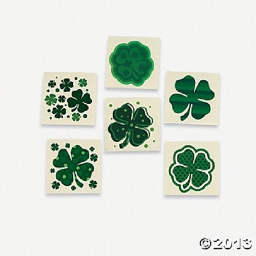 shamrock temporary tattoos