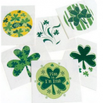 St. Patrick's Day Shamrock Temporary Tattoos on Sale