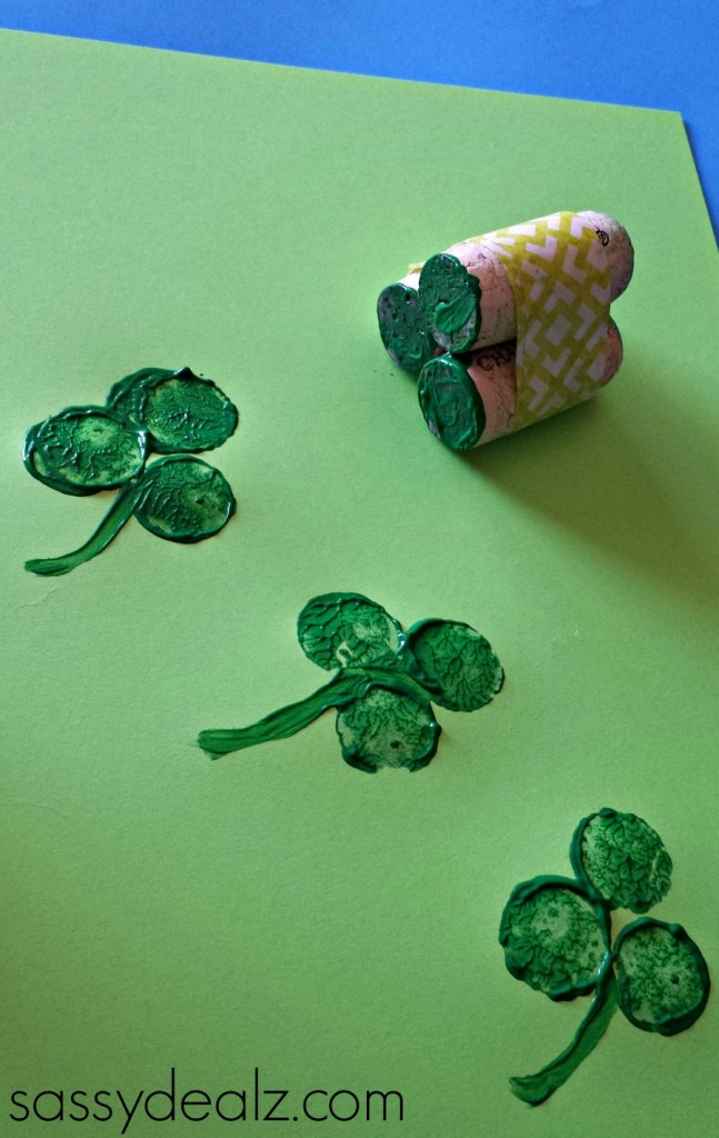 shamrock wine cork