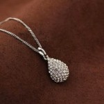 Silver or Gold Crystal Teardrop Necklace Only $2 Shipped!