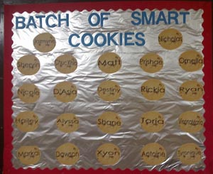 smart cookie bulletin board