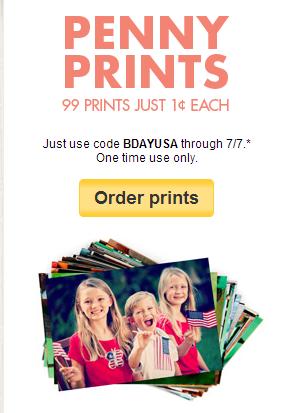 Snapfish coupons penny prints