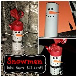 DIY Snowman Toilet Paper Roll Craft For Kids (Cheap Christmas Project)