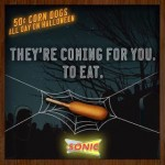 Sonic: 50 Cent Corn Dogs All Day on Halloween! (Thursday 10/31)