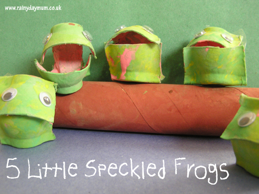 speckled-frogs-paper-towel-roll-craft