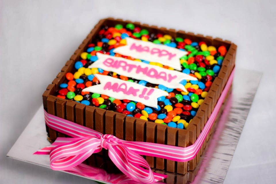 Birthday Cake With Kitkat Bars