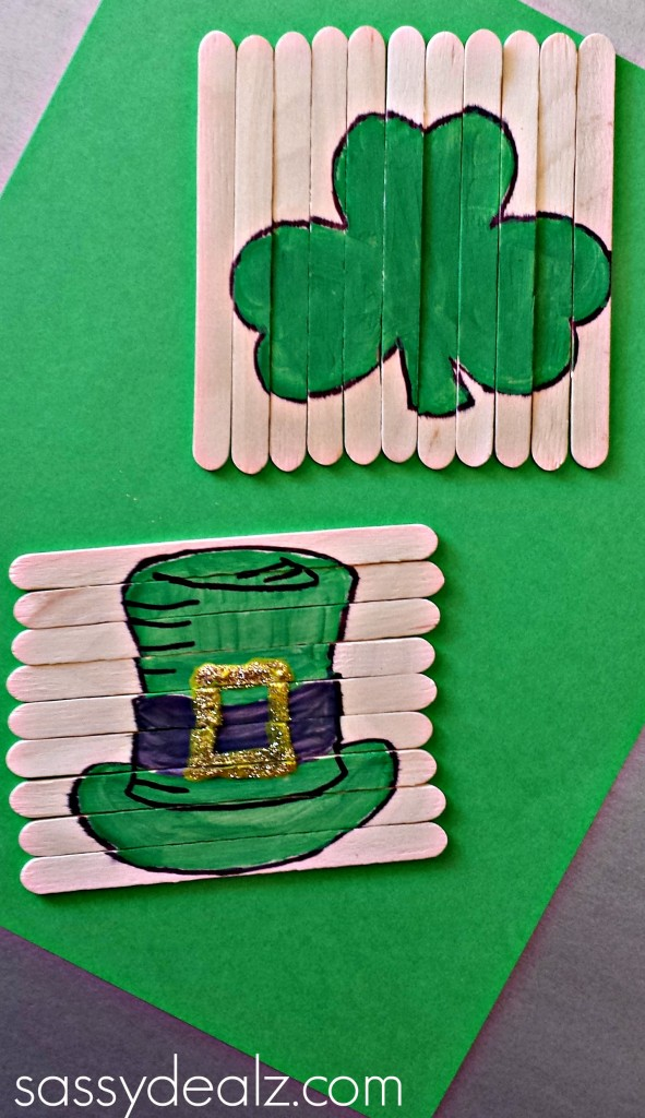 st patricks day popsicle puzzle